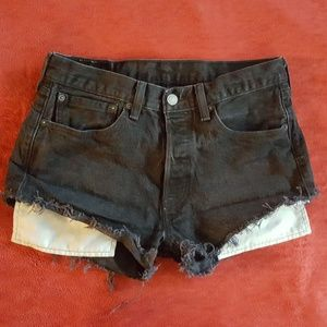 Levi's 501 Hi Rise Cutoff Denim Shorts Sz 30
